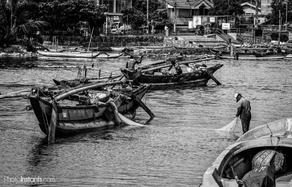 Pescadores en Negombo